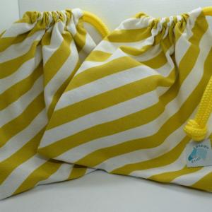 Housses d'étriers rayures jaunes