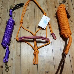 Ensemble violet et orange taille shetland